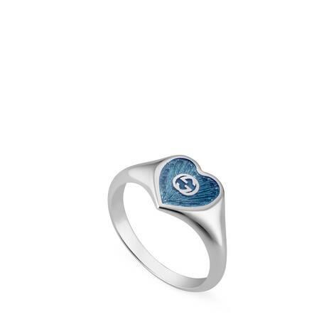 互扣式双G珐琅爱心戒指