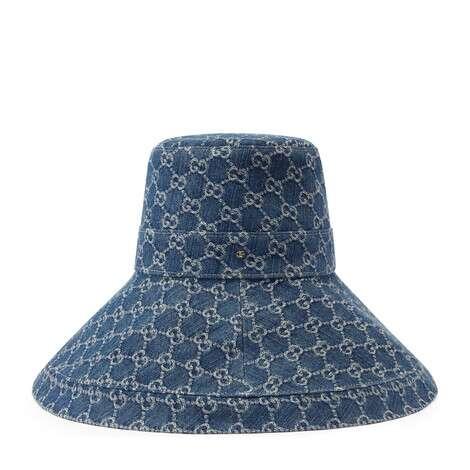 GG Denim系列宽边帽