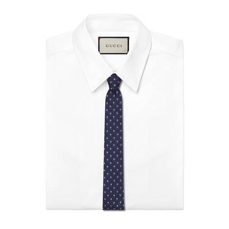 GG花卉真丝领带