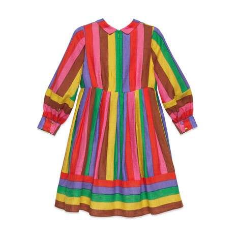 儿童刺绣印花连衣裙