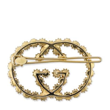 珍珠互扣式双G发夹