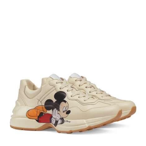 Disney x Gucci Rhyton系列女士运动鞋