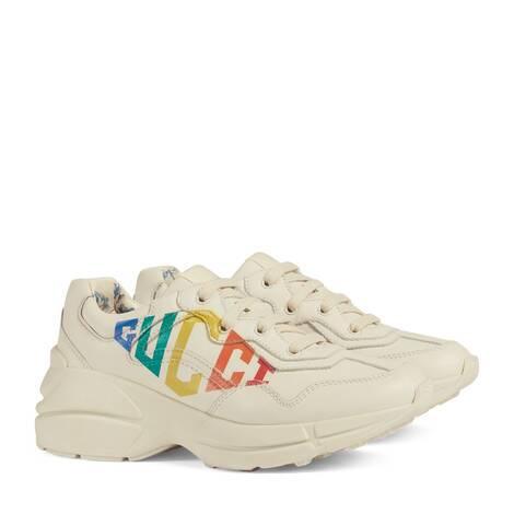 Rhyton系列儿童Gucci印花运动鞋