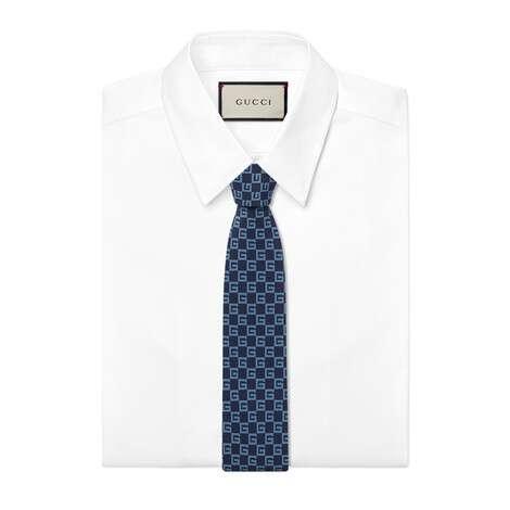 方形G真丝领带