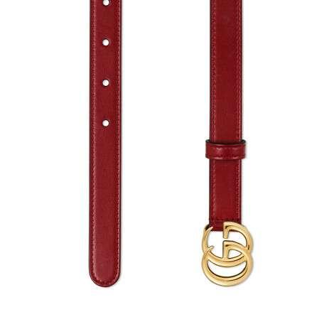 饰闪亮搭扣GG Marmont系列皮革腰带