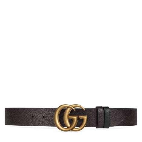 双G带扣双面可用皮革腰带