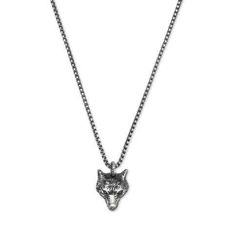 Anger Forest系列狼头银项链