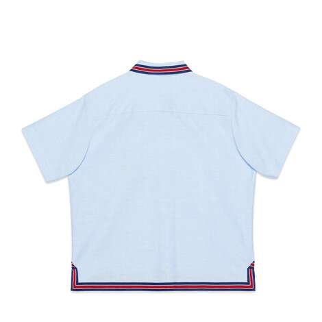 儿童船锚刺绣衬衫