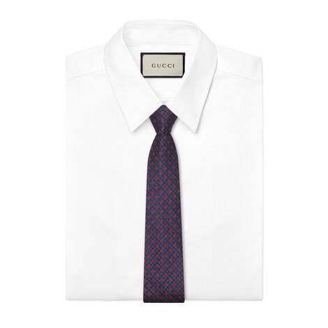 GG和三叶草真丝领带