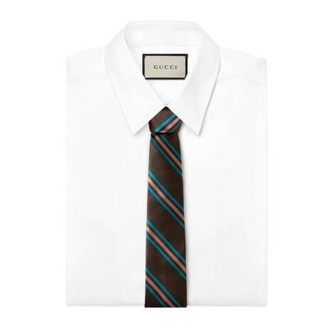 互扣式双G织带真丝领带