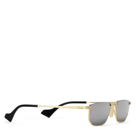 长方形镜框金属太阳眼镜