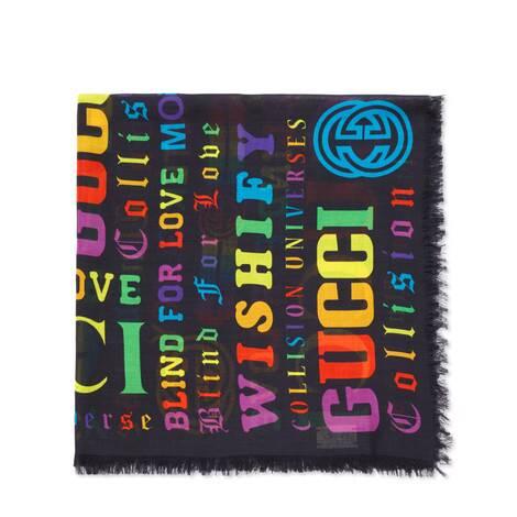 儿童Gucci多种标识印花围巾