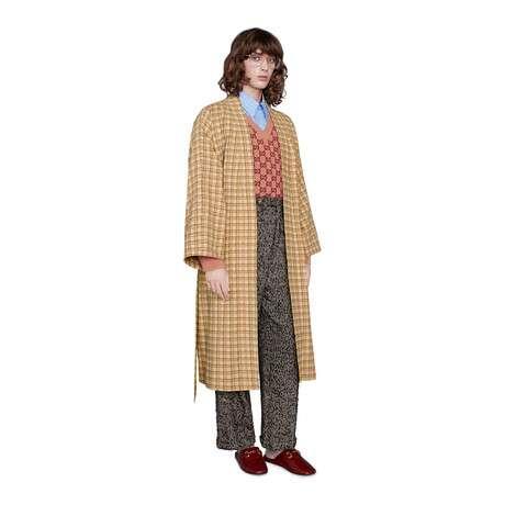 GG羊毛V领毛衣