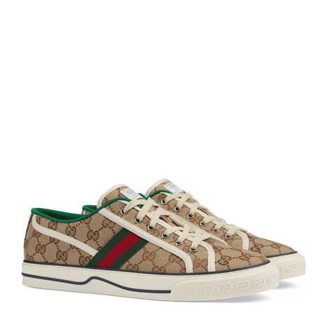 Gucci Tennis 1977系列男士GG运动鞋
