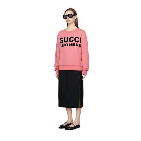 女士Gucci Sexiness印花卫衣