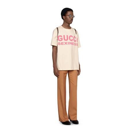 Gucci Sexiness印花超大造型T恤