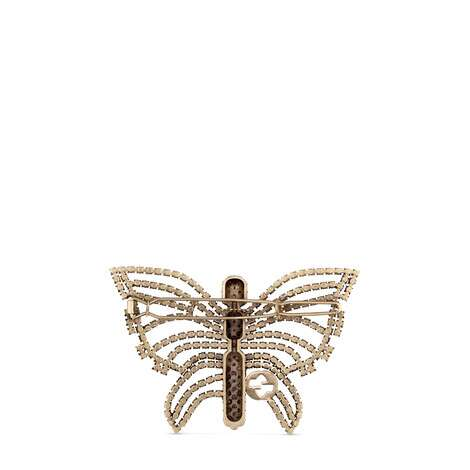 饰水晶蝴蝶发夹