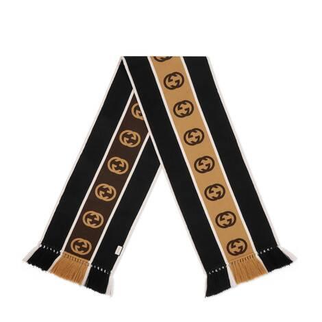 饰互扣式双G条纹围巾