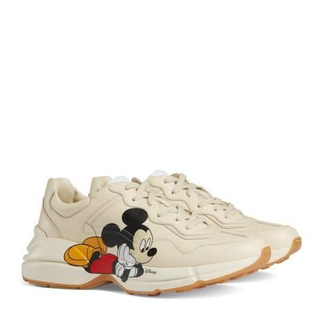 Disney x Gucci Rhyton系列男士运动鞋