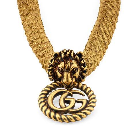 双G狮头项圈
