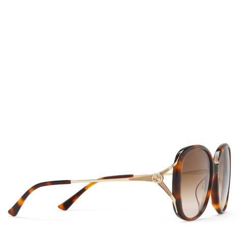 贴合设计圆形镜框太阳眼镜