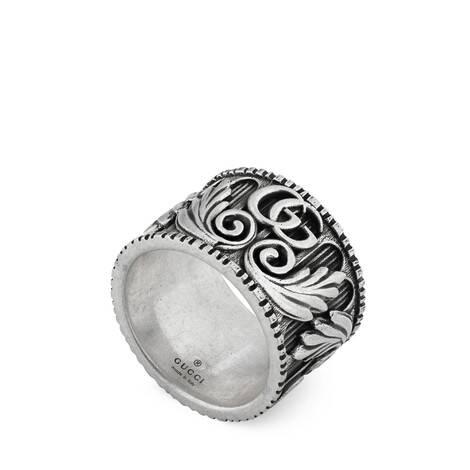 双G和树叶图案戒指