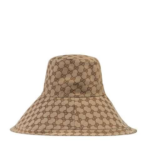 GG帆布宽边帽