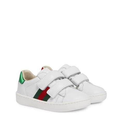 幼儿皮革织带运动鞋