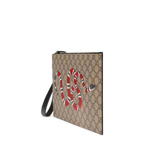 珊瑚蛇印花手拿包