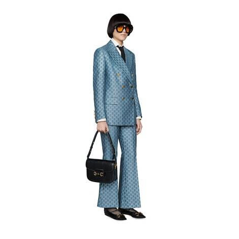 GG轻质金银丝线喇叭裤
