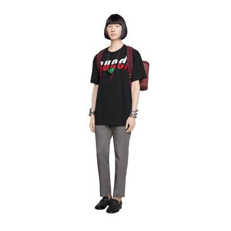 Gucci锋刃印花T恤