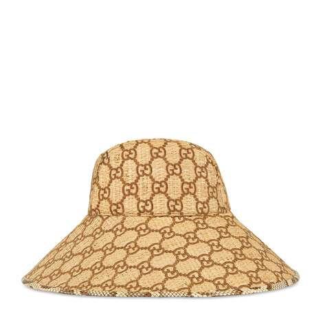 饰蛇皮 GG 宽边帽