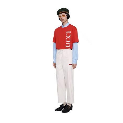 Gucci印花超大造型T恤