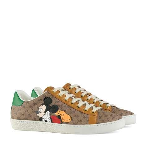 Disney x Gucci Ace系列女士GG运动鞋