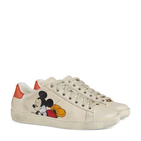 Disney x Gucci Ace系列女士运动鞋
