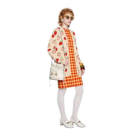 GG苹果羊毛提花开衫