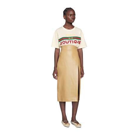 女士Gucci Boutique印花T恤