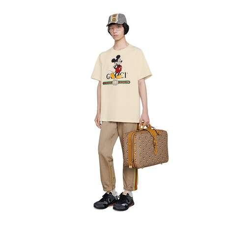 Disney x Gucci超大造型T恤