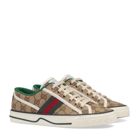 Gucci Tennis 1977系列女士GG运动鞋