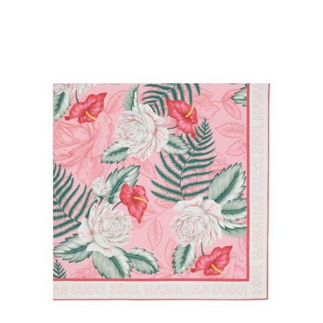 夏威夷风格印花真丝围巾
