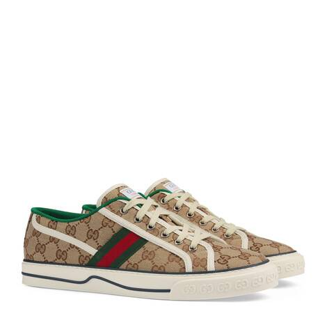 Gucci Tennis 1977系列男士GG运动鞋