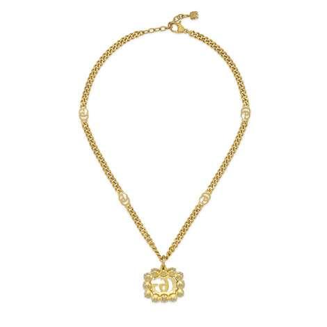 珍珠双G项链