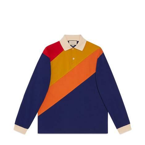 饰Gucci标签超大造型Polo衫