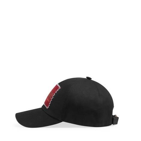 饰Gucci标签棉布棒球帽