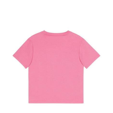 儿童互扣式双G印花棉质T恤