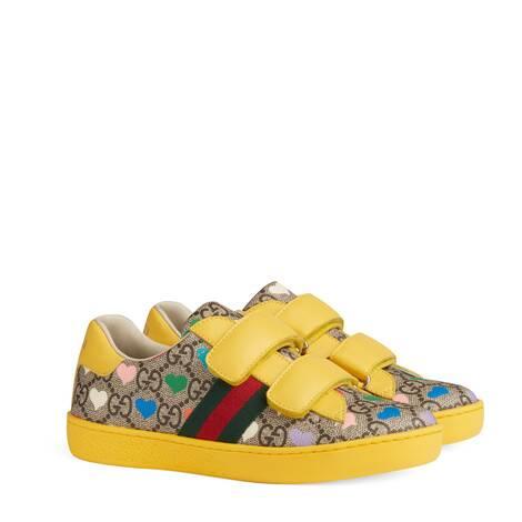 Ace系列儿童GG心形印花运动鞋