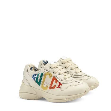Rhyton系列幼儿Gucci印花运动鞋