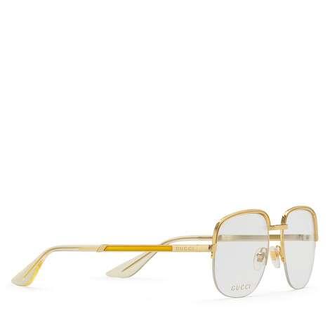 方形镜框金属眼镜