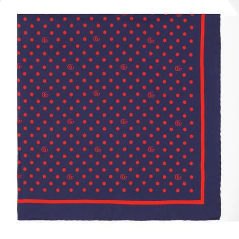 波点和双G真丝围巾