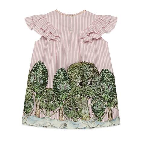 儿童樋口裕子印花棉质连衣裙